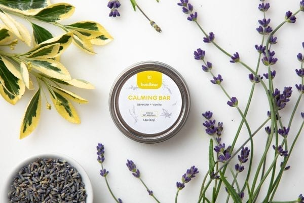 bonfleur hemp calming bar lavender vanilla